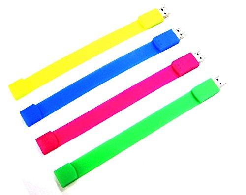 homiki Speicherstick USB 3.0Armband Silikon Farben für Männer Jungs Jungen Flash Memory sehr Videogame Vater von Mode 32G rot
