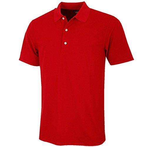 Greg Norman Herren Poloshirt Pro Tek Performance Micro Pique Polo Shirt-Kardinal, 2X Große - Kardinäle Polyester
