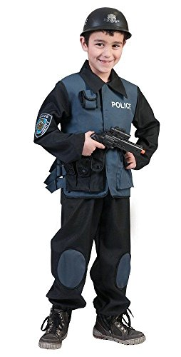 Für Kostüm Jungen Fbi (Police Special Force Kostüm Gr.)