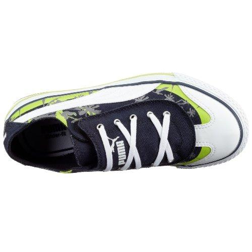 Puma 917 Lo CALI Jr 349918, Unisex - Kinder Sneaker Blau (Newnavy-White-Wildlime04)