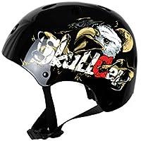 Skullcap® Casco BMX - Casco Skate - Casco Bici, Casco Niños, Negro, Talla S, Eagle