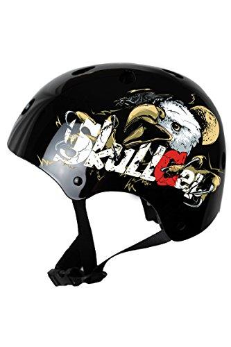 Skullcap® BMX Helm ☢ Skaterhelm ☢ Fahrradhelm ☢, Herren | Damen | Jungs & Kinderhelm, schwarz matt & glänzend (Eagle, S (53 - 55 cm))