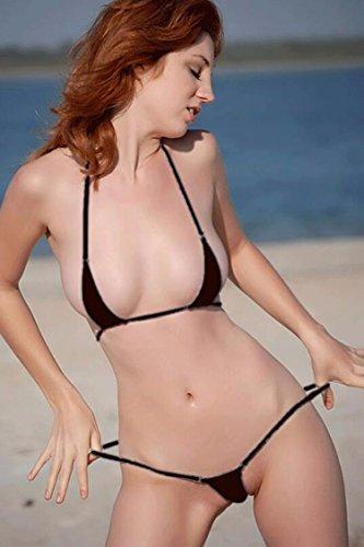 Mini Unterwäsche Bikini Badeanzug Schwarz