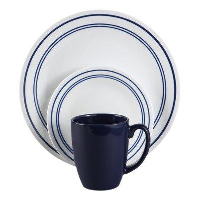 Corelle Classic Cafe Blue 16-Piece Dinnerware Set by CORELLE Corelle Classic Cafe