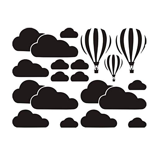 Personality Fashion Big Cloud Hot Air Balloon Living Room Bedroom Background Wall Diy Fashion Combination Decorative Wall Stickers
