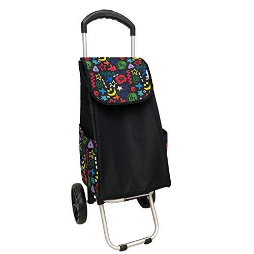 caddie Chariot de magasinage 2 Roues, Pliant, Aide à la mobilité Stable et Forte, modèles pour Femmes, Hommes et Unisexe