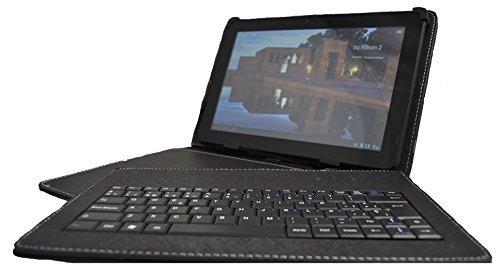 """theoutlettablet® Funda con teclado extraíble en español (incluye letra Ñ) para Tablet Unusual 10W 10.1"""" - Color NEGRO"""
