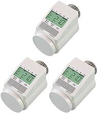 komforthaus - Set de termostatos para calefacción tipo Classic  L (modelo silencioso, para 3 habitaciones, incluye tuerca de metal estable)