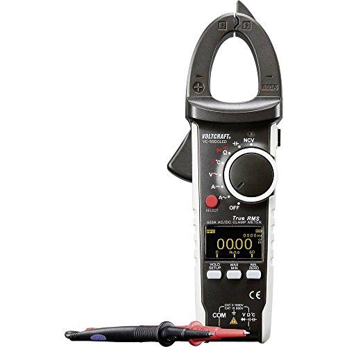 VOLTCRAFT VC-590OLED Stromzange digital OLED-Display CAT III 600 V, CAT II 1000 V Anzeige (Counts): 6000 Ac Current Clamp Meter