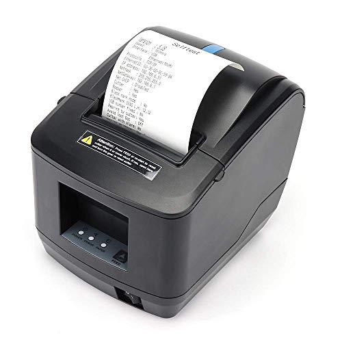 [Montato a Parete2.0] 80MM Recep POS MUNBYN USB Ethernet LAN Stampante Termica con Taglierina Automatica, Adatto per il Negozio di Abbigliamento Del Supermercato