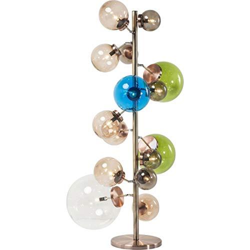 Kare Design Stehleuchte Balloon Colore LED, Stehlampe für Innen, mit 15 großen, farbigen Lampenschirmen, edle Designleuchte (HxBxT) 160x95x75cm [Energieklasse A], Glass, Kupfer, (
