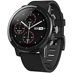 Amazfit Stratos 2 Xiaomi Smartwatch Activity Tracker Podomètre Moniteur de fréquence Cardiaque GPS Natation Étanche Bluetooth Version Internationale Noir