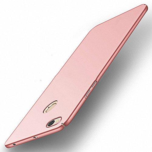 NAVT Xiaomi Redmi Note 5A Funda,Ultrafino Estructura completamente rodeada la estructura de superficie mate Durable PC Protector teléfono funda para Xiaomi Redmi Note 5A Smartphone (oro rosa)