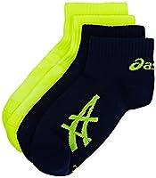 Asics Pulse Socks (Pack of 2) - Indigo Blue/Safety Yellow, Size 1