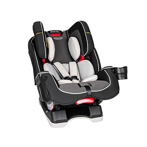 Graco 2032999 Milestone LX All-in-One-Autositz mit Safety Surround-Seitenaufprallschutz, Gruppe 0+/1/2/3, perlgrau
