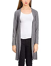 Jersey Largo Elegante Mujer Moda Cardigan Color Sólido Manga Larga Otoño  Slim Fit Hipster Sweater Basicas 187325dad3c1