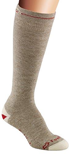 Fox River rot Ferse Knie Hohe Monkey Socken, braun, Large (Knie Braun Ferse Hoch)