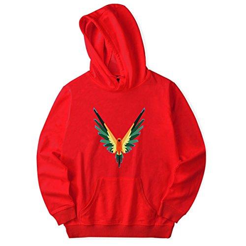 SIMYJOY Pärchen goldener Papagei Logang Paul Kapuzenpullover Cool Savage Maverick Hoodie für Liebespaar Männer Damen Teenager Jugendliche