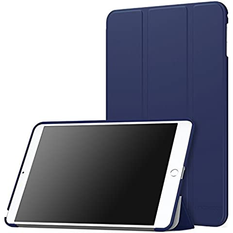 MoKo iPad Mini 4 Funda - Ultra Slim Lightweight Función de Soporte Protectora Plegable Smart Cover Durable Para Apple iPad Mini 4 7.9 Pulgadas 2015 Tableta, AZUL Oscuro (Auto Sueño /