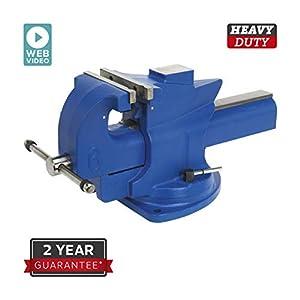 Sealey qav150Tornillo de Banco 150mm Giratorio de acción rápida Base de Hierro Fundido