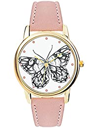 Spirit Ladies Analogue Round Butterfly Dial With Light Pink Pu Strap ASPL70