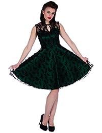 Neue Smaragd Grün Voodoo Vixen 50er Jahre Rockabilly Vintage Stil Spitzen Kleid