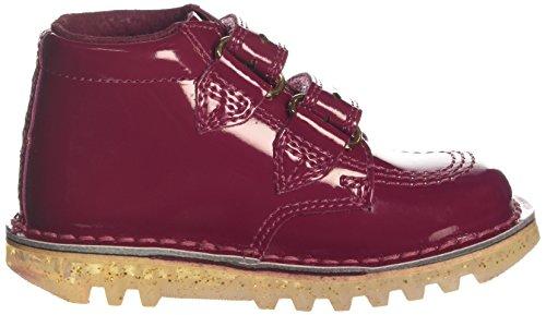 Kickers Kick Diamond Infant Dark Red Patent Ankle Boots Dark Red