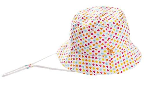 Bigood Chapeau Bébé Fille Garçon Coton Cœur Imprimé Plage Randonnée Casual Mode Tour de Tête 50cm