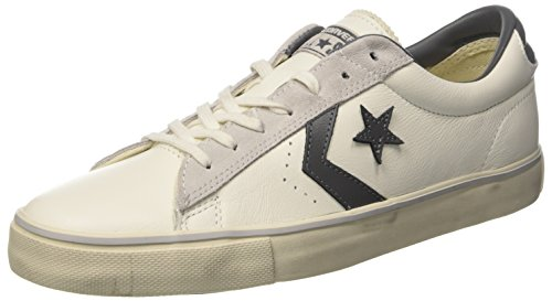 Converse Herren Pro Leather Vulc Distressed Ox Sneakers, Weiß (Star White/Thunder/Mouse), 46 EU (Leder Distressed Turnschuhe)
