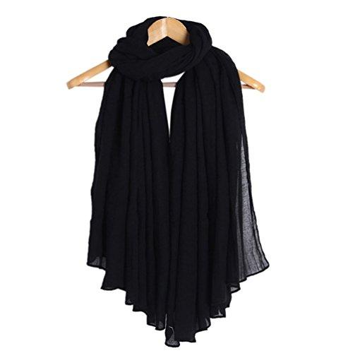 Aidonger Damen große einfarbige natürliche Schals Stola Kopftücher, 190*150CM