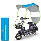 GFYWZ Motorrad-Regenschirm-Sonnenschutz-Regenschutz, Universal-Fahrrad-elektrischer faltender wasserdichter Regenschirm,E