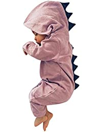 cc5374a9096a Deloito Newborn Infant Baby Romper, Boy Girl Dinosaur Hooded Baby Romper  Outfits Clothes Warm Cotton Jumpsuit Bodysuit Outfits Costume…