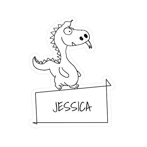 JOllipets Baby Kinder Aufkleber - Jessica - Variante: Tiere Zoo - Farbe: Design: Drache