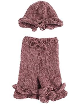 Zhhlaixing Handmade Knit Crochet Hat Pants Photo Prop Newborn Girls Photography Beanie Cover Costume Set