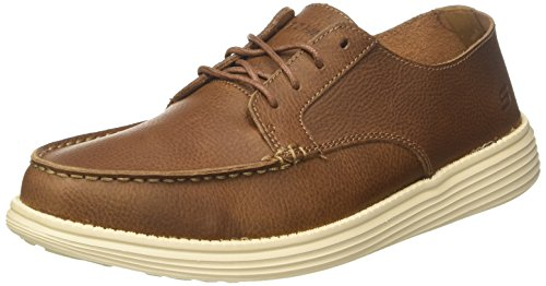Skechers status-lerado, mocassini uomo, marrone (brown), 44 eu