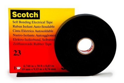 3M HT002001309 Scotch 23 Cinta Eléctrica Autosoldable de Goma, 19 mm x...