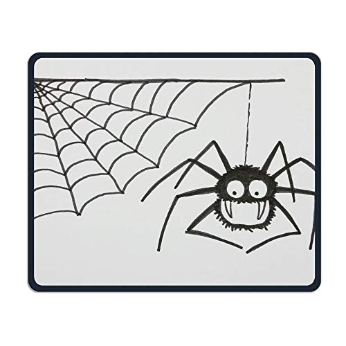 ASKSSD Mouse Pad Halloween Spider Web Rectangle Non-Slip 9.8in11.8 in Personalized Designs Gaming Rubber Mousepad Stitched Edges Mouse Mat (Web-material Halloween Für Spider)