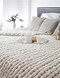 Calde Coperte Pesanti Knit Nordic Handmade Inverno Divano Letto Coperta Spessa voluminosa Getta Home Decor Bianco Multiplo Dimensioni 200x200cm