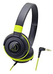 audio-technica STREET MONITORING sealed on-ear headphones Portable Black Green ATH-S100 BGR