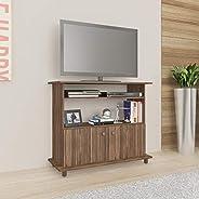 Tecnomobili TV Rack with 2 Doors - 90L x 36W x 76H cm, Walnut