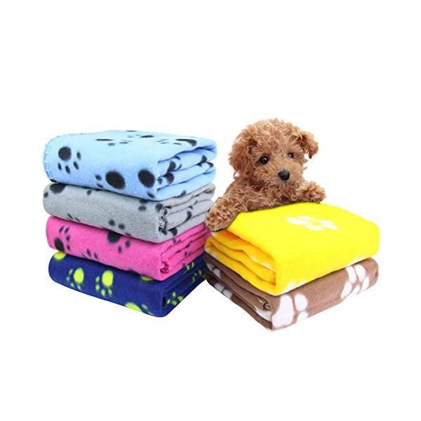 AK-KYC-6-pack-Mixed-Puppy-Blanket-Cushion-Dog-Cat-Fleece-Blankets-Pet-Sleep-Mat-Pad-Bed-Cover-with-Paw-Print-Kitten-Soft-Warm-Blanket-for-Animals