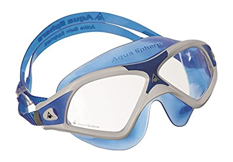 Aqua Sphere Seal XP2 swimming Mask with Clear Lens - White/Blue