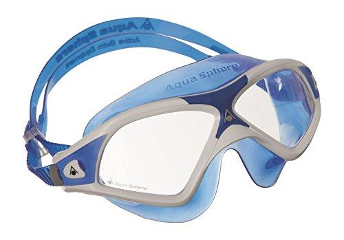 Aqua Sphere Seal XP2Taucherbrille mit klarem Glas Einheitsgröße Weiß/Blau