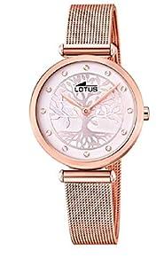 Lotus Reloj Analógico para Mujer de Cuarzo con Correa en Acero Inoxidable 18710/2