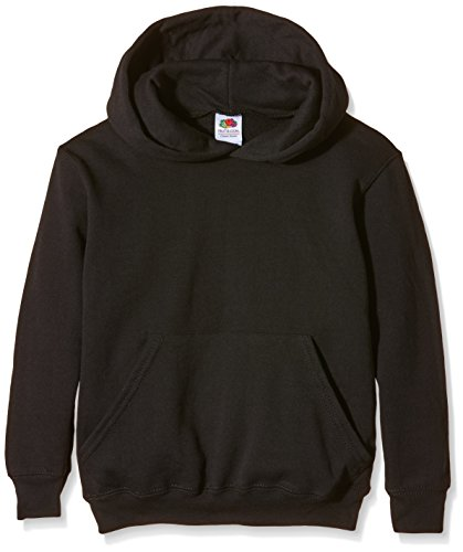 Fruit of the Loom Jungen 's Kids Hooded Sweatshirt Gr. X-Small, schwarz (Jersey Bebe)