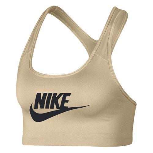 Nike Damen Swoosh Futura Bra Sport BH, Beige (Sand/Schwarz), M Preisvergleich