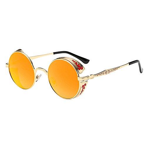 e70df323d121 ZODOF Gafas de Sol Verano Vintage Retro Gafas Redondas Gradientes de ...