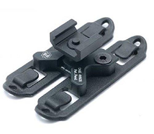 AIRSOFT GUN LINK RAIL MOLLE SET MOUNT BLACK UK -