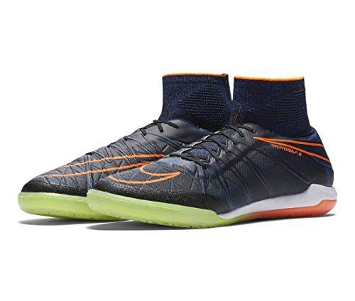 Nike Hypervenomx Proximo Ic, Chaussures de Football Homme Noir - Negro (Negro (Black/Black-Ttl Orange-Rcr Bl))