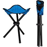 Lysport Outdoor Tripod Stool Portable Foldable Small 3-Legged Canvas Chair for Hiking Camping Fishing Picnic Beach BBQ Travel Backpacking Garden Seat